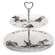 Mrs Moore - Alice In Wonderland Two Tier Cake Stand