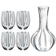 Riedel - Optical O Longdrink Glass & Decanter Set 5pce