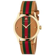 Gucci - Timeless Brown & Green-Red-Green Web Watch 38mm