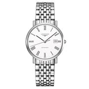 Longines - Elegant White Dial Stainless Steel Watch 37mm