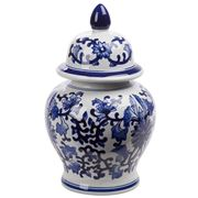 Fancy - Porcelain Jar White & Blue Ming 36cm