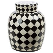 Luxe By Peter's - Venezia Pot Black & White 32cm