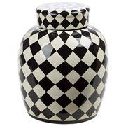 Fancy - Pot Ceramic Black/White Venezia 32cm