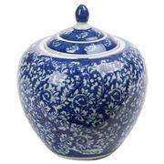 Fancy - Porcelain Pot Blue & White 21x25cm