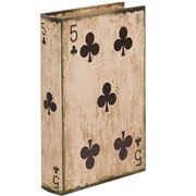 Fancy - Five Of Clubs Playing Card Box  27x17x5cm