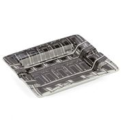 Luxe By Peter's - Black & White Porcelain Florence Ash Tray