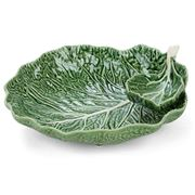 Bordallo Pinheiro - Natural Couve Leaf with Bowl 34cm