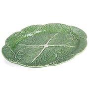 Bordallo Pinheiro - Natural Couve Oval Platter 43cm
