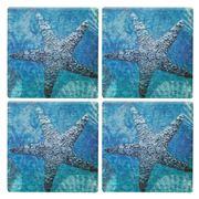 Thirstystone - Starfish Coaster Set 4pce