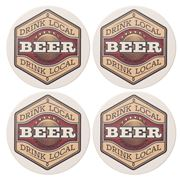 Thirstystone - Beer Label Coaster Set 4pce