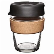 Keepcup -Brew Reusable Glass Cup Cork Edition Espresso 340ml