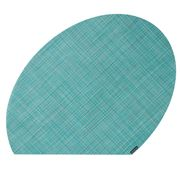 Chilewich - On Edge Mini Basketweave Turquoise Placemat