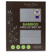 Bubba Blue - Bamboo Cot Sheet Set Grey 3pce