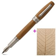 Montegrappa - Heartwood Light Teak Fountain Pen w/Notebook