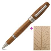 Montegrappa - Heartwood Light Teak Rollerball Pen w/Notebook