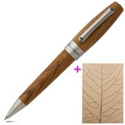 Montegrappa - Heartwood Light Teak Ballpoint Pen w/Notebook