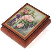 Ercolano - The Old English Rose Wooden Musical Box