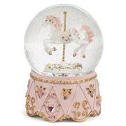 The Russell Collection - Carousel Horse Snow Dome