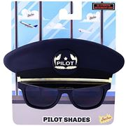 Sun-Staches - Black Cap Pilot Shades