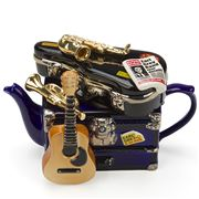 The Teapottery - Band On Tour Blue & Gold Teapot 1.5L