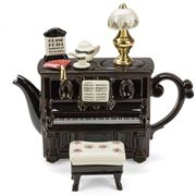 The Teapottery - Piano Tea Dance Large Teapot