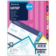 Filofax - A5 Illustrated Stripes 2019 Diary Refill