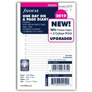 Filofax - Pocket One Day On A Page w/Appointment 2019 Refill