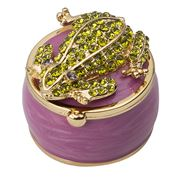 Whitehill - Round Frog Trinket Box
