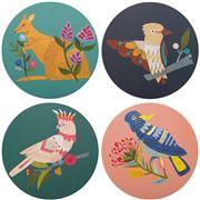 Australiana - Fauna Coaster Set 4pce