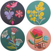 Australiana - Flora Coaster Set 4pce