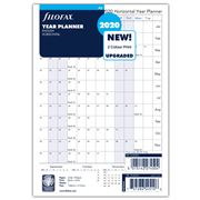 Filofax - A5 Horizontal Year Planner 2020 Refill