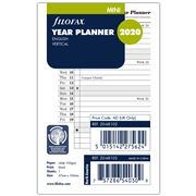 Filofax - Mini 2020 Vertical Year Planner Refill