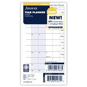 Filofax - Personal Year Planner Horizontal 2020 Diary Refill