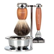 Gentleman London - Plum Wood Shaving Set 4pce
