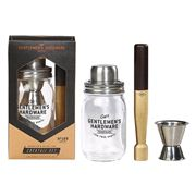 Gentlemen's Hardware - Muddler & Glass Jar Cocktail Set