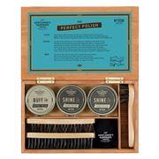 Gentlemen's Hardware - Cigar Box Shoe Shine Kit 7pce