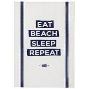 Lexington - Eat Beach Sleep Kitchen Towel White 50x70cm