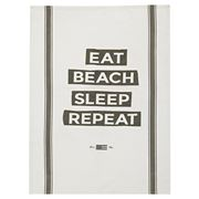 Lexington - Eat Beach Sleep Kitchen Towel White/Gr 50x70cm
