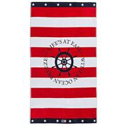 Lexington - Graphic Velour Beach Towel Red/White 100x180cm