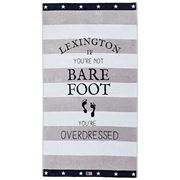 Lexington - Graphic Velour Beach Towel Gray/White 100x180cm