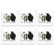 Charlotte Nicolin - Morning Conversation Coaster Set 6pce