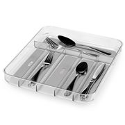 Madesmart - Clear Soft Grip Cutlery Tray