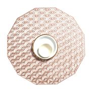 Chilewich - Kaleidoscope Round Placemat Pink Champagne