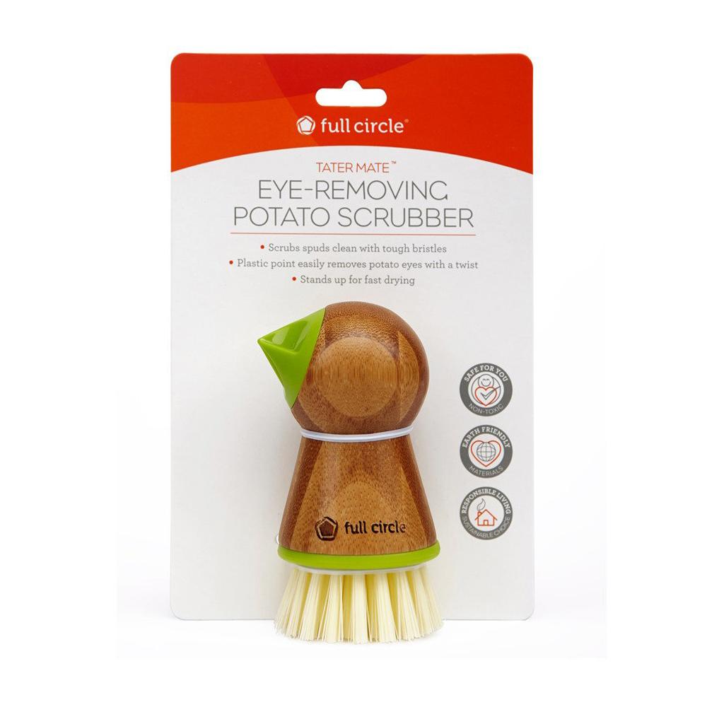 Full Circle - Eye-Removing Potato Scrubber Green | Peter's
