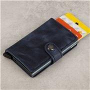 Secrid - Vintage Blue Leather Mini Wallet