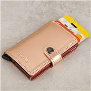 Secrid - Metallic Rose Leather Mini Wallet