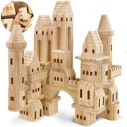 FAO Schwarz - Wooden Castle Building Blocks 75pce