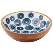 Amalfi - Santorini Wood/Enamel Serving Bowl