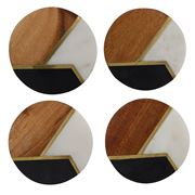 Amalfi - Trinity Brass Inlay Coaster Set 4pce