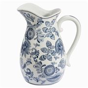 Florabelle - Paisley Jug Blue and White